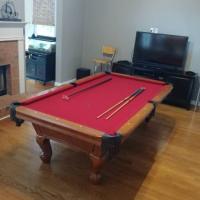 8' Slate Pool Billiards Table