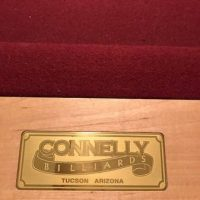 Connelly Pool Table w/ Wall Rack & Accessories